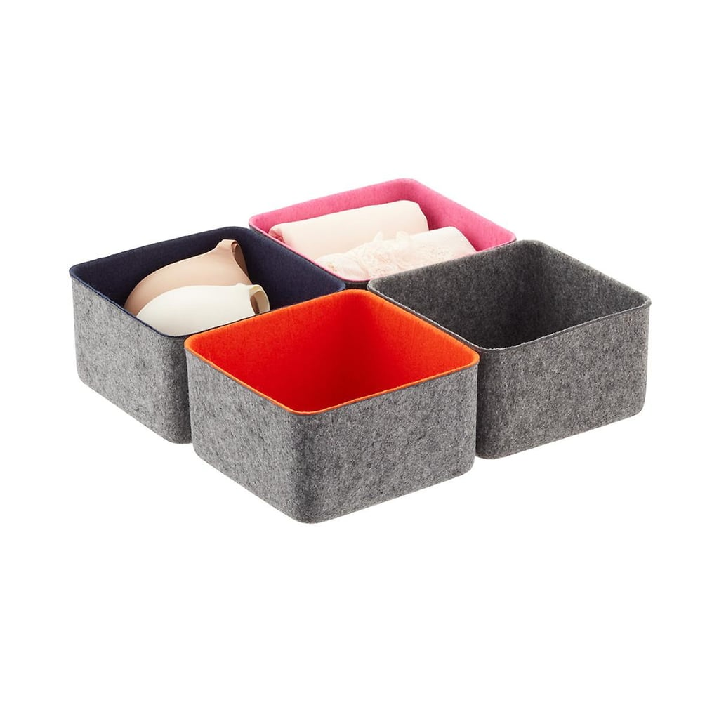 Three by Three Felt Drawer Organizers