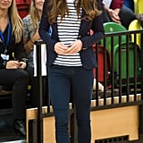 Kate Middleton stepped out solo for a visit to London's Sportaid Athlete Workshop.