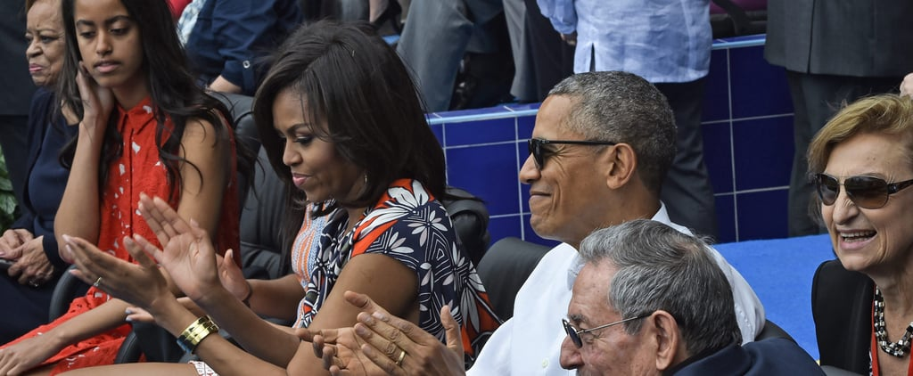 Take the Obamas Out to the Ball Game — in Very Stylish Sundresses
