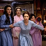 Kimmy Schmidt and the Sister Wives in Unbreakable Kimmy Schmidt