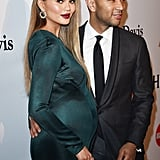 Chrissy Teigen Shows Off Her Baby Bump in the Ultimate Mermaid Dress