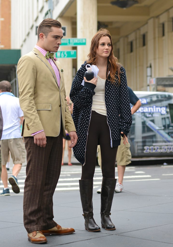 Outfit change! Blair mixed things up, Chuck remained surly. We wouldn't want it any other way...
