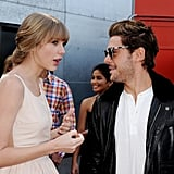 Taylor Swift and Zac Efron shared a few words before the screening.