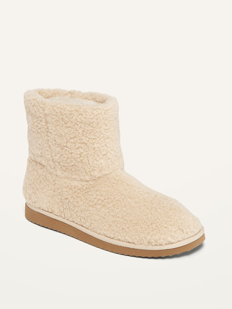 Cosy Sherpa Slipper Booties