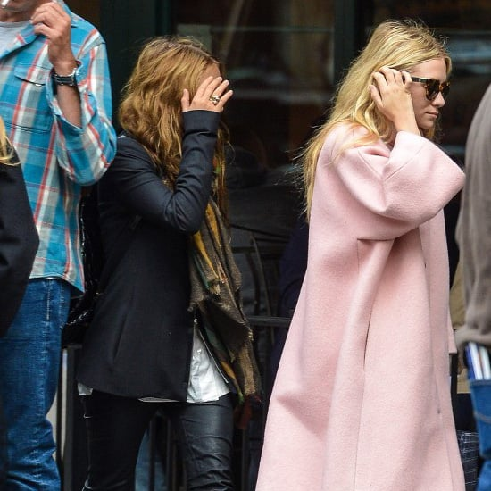 Ashley Olsen Wearing Pink Coat