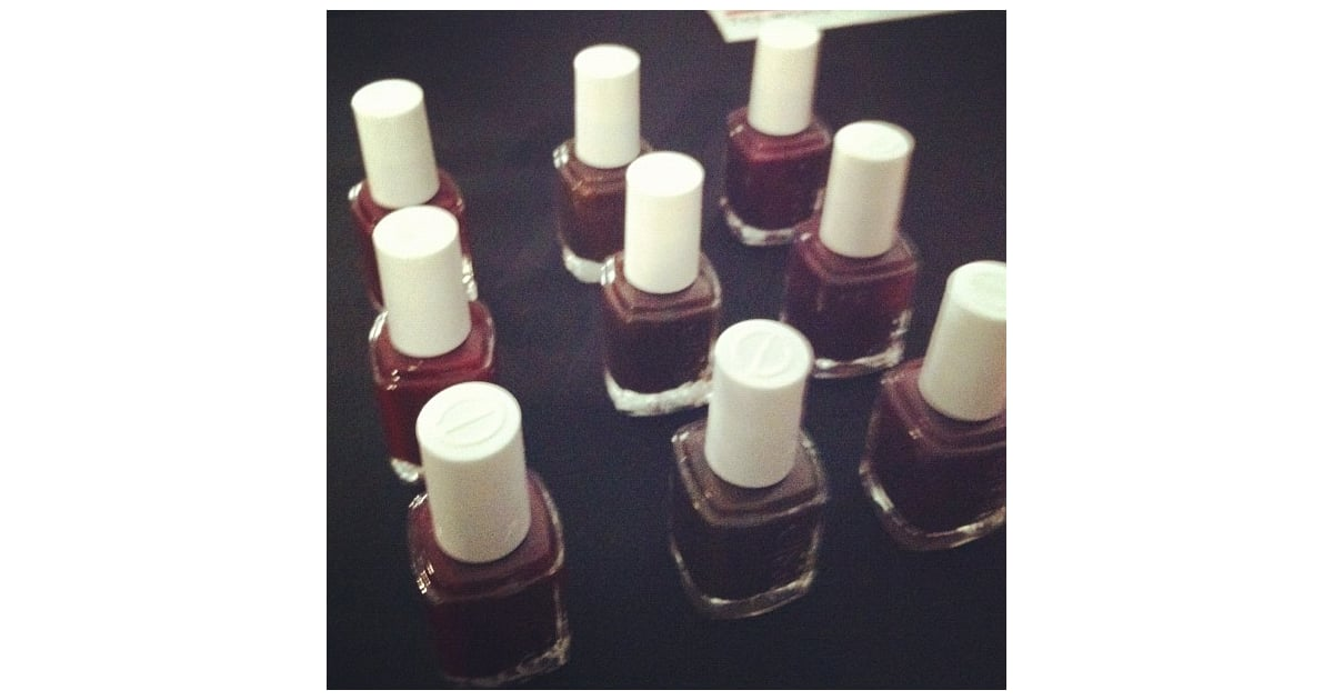 Essie nail polish in Carry On, Little Brown Dress, and Bordeaux ...