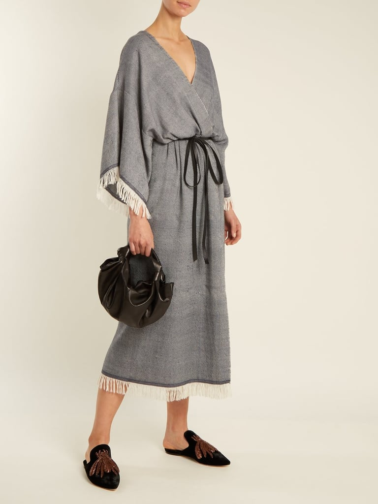 Fringed wool-blend wrap dress Adam Lippes 4wB2BdnMm