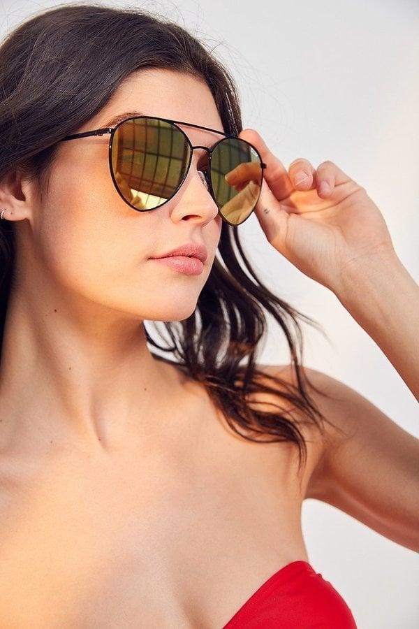 QuayXJasmine Sanders Indio Metal Sunglasses