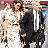 George and Amal Clooney Holding Hands in NYC September 2016