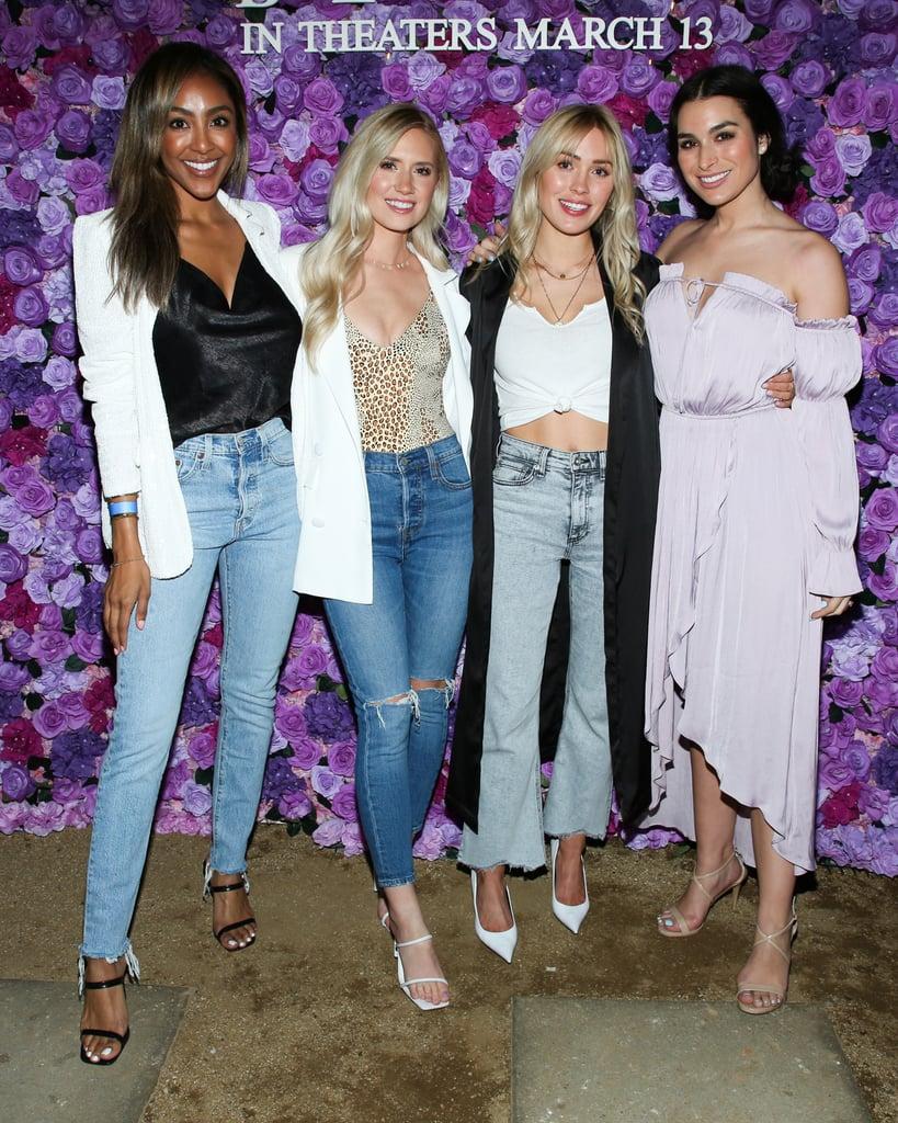 Tayshia Adams, Lauren Luyendyk, Cassie Randolph, and Ashley Iaconetti at I Still Believe Screening