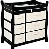 Badger Basket Baby Changing Table — Black