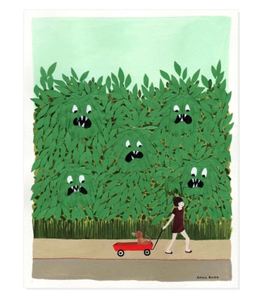 Rifle Paper Co. - Monsters in the Bushes Print ($20)