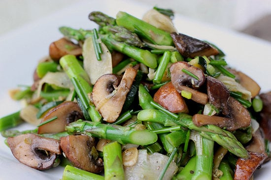 Marinated Mushroom And Asparagus Salad Healthy Spring Vegetable Recipes Popsugar Fitness