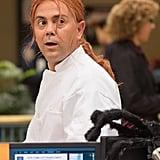 Brooklyn Nine-Nine Det. Charles Boyle (Joe Lo Truglio) dresses as a chef in the Halloween episode of Brooklyn Nine-Nine.