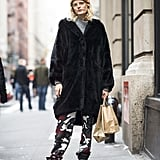 48889fb52eb ... Hanne Gaby Odiele stayed spunky with camo-print pants