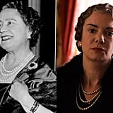 Queen Elizabeth the Queen Mother and Victoria Hamilton