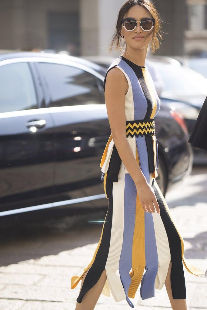 Nicole Warne at Milan Fashion Week Spring 2017