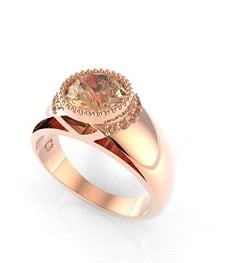 PS: At a budget of $5000, what should we be looking for in a ring? CM: You should be looking for an 18ct gold ring, whether it be white, yellow or rose, if opting for a brilliant round diamond the size should be from half a carat (.50 — .70ct) with a colour of F and a clarity no lower than an SI1. All prices vary but this is a good starting point if looking for colour and clarity over carat weight. If opting for something a bit more boutique like the one pictured, you can choose a wider band (more metal weight) in 18ct. If having a champagne diamond, you may opt for a heavier carat weight that sits within the same budget. Champagne diamonds are a fancy diamond and are roughly a third of the price of white diamonds— making them a great and unique alternative to a white diamond. Ring, Sorrento collection by Cassandra Mamone, POA, Stockist: sales@cassandramamone.com