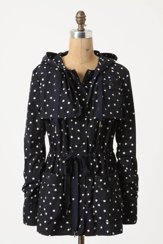 Even on a rainy day, this polka-dot anorak will make you smile.  Daughters of the Liberation Rain-Dotted Anorak ($168)