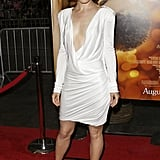 At the premiere of The Time Traveler's Wife, Rachel stunned in a plunging white Pucci gown and Christian Louboutin pumps.