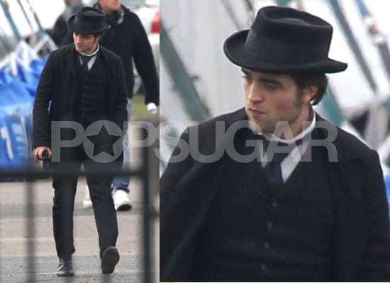 Photos of Robert Pattinson Filming Bel Ami in London