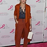 Olivia decided to wear the color from head-to-toe while attending The Pink Agenda's 2016 Gala in NYC.