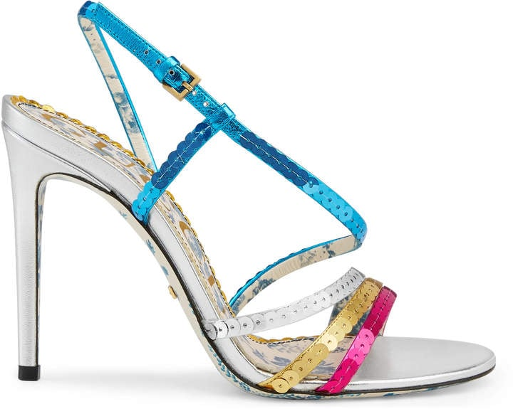Gucci Leather sandals with sequins
