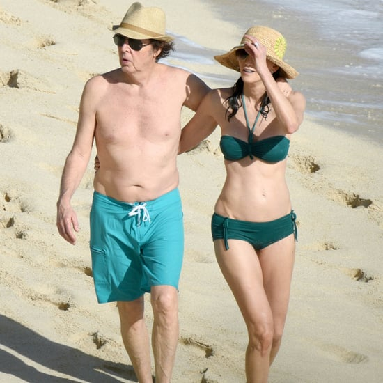 Paul McCartney and Nancy Shevell in St. Barts 2015