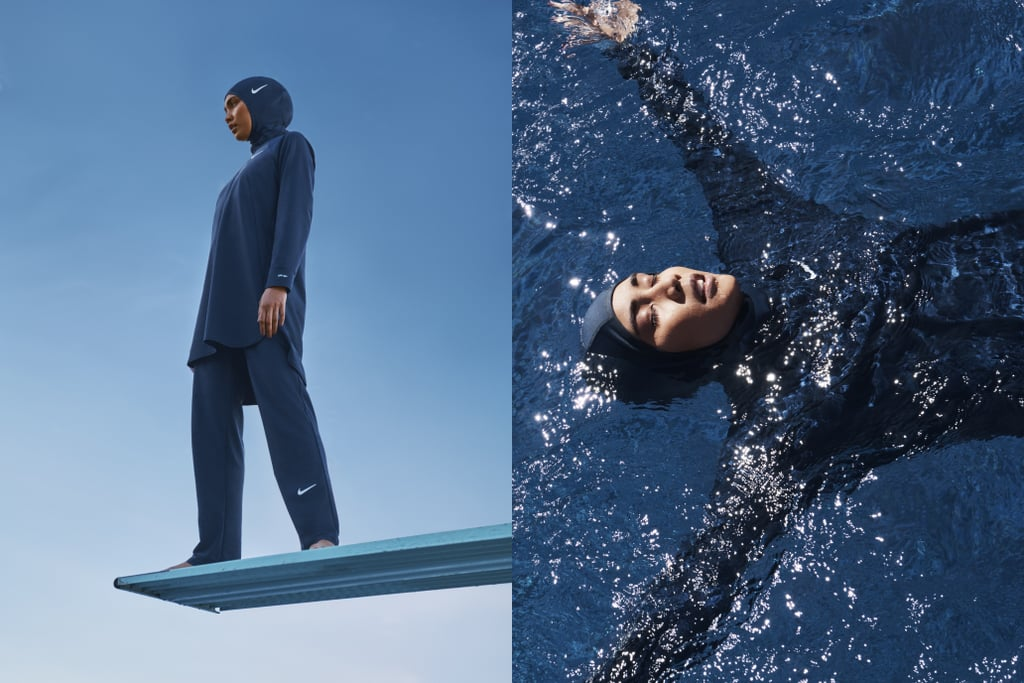 "Nike is taking another step to make sportswear more inclusive for Muslim women. After releasing the industry-changing Nike Pro Hijab in Dec. 2017, the brand is back with another innovation: the Nike Victory Swim Collection. The collection includes the Nike Victory Full-Coverage Swimsuit, the Nike Victory Swim Tunic Top, the Nike Victory Swim Leggings, and the Nike Victory Swim Hijab, each created with the athlete in mind. After noticing a jarring lack of swimwear for diverse athletes, designers knew this was necessary. There's no reason that women shouldn't be able to enjoy water sports because of the swimwear available, so Nike stepped in. ""The more we listened, the more possibility we saw to serve female athletes in new dimensions,"" Nike creative director Martha Moore said in a press release. ""As we continue broadening our vision for innovation, we're excited to inspire more women to see themselves in sport by thinking creatively and designing inclusively."" The sleek products will allow every swimmer, regardless of religious beliefs, to have a full range of motion underwater and feel like a complete badass. ""This suit is going to take us to a different level,"" one swimmer said in a promotional video. Another added, ""Because it's not even just Muslim women, a lot of women are modest as well.""  ""It's so different than any of the swimsuits I've ever seen."" Unlike the swimwear options currently on the market, the new Nike collection provides the necessary coverage many Muslim swimmers want and also offers serious functionality. The products are lightweight, breathable, and comfortable. The Full-Coverage Swimsuit and Swim Tunic Top each have a built-in sports bra with perforated cups. The Swim Hijab has a mesh pocket that keeps hair in place while underwater. Predictably, the feedback has been overwhelmingly positive. Emirati figure skater Zahra Lari swims often for her training, and she applauded the new collection. ""I feel super light and confident in this. It doesn't weigh you down, and it helped me swim better,"" she said in the same press release. ""It's so different than any of the swimsuits I've ever seen, and I know I can wear this confidently."" Check out photos of the barrier-breaking collection ahead, and shop the Nike Victory Swim Collection on Nike.com and at select retailers starting on Feb. 1.      Related:                                                                                                           These Hijab Fashion Bloggers Will Make You Rethink Modest Style"