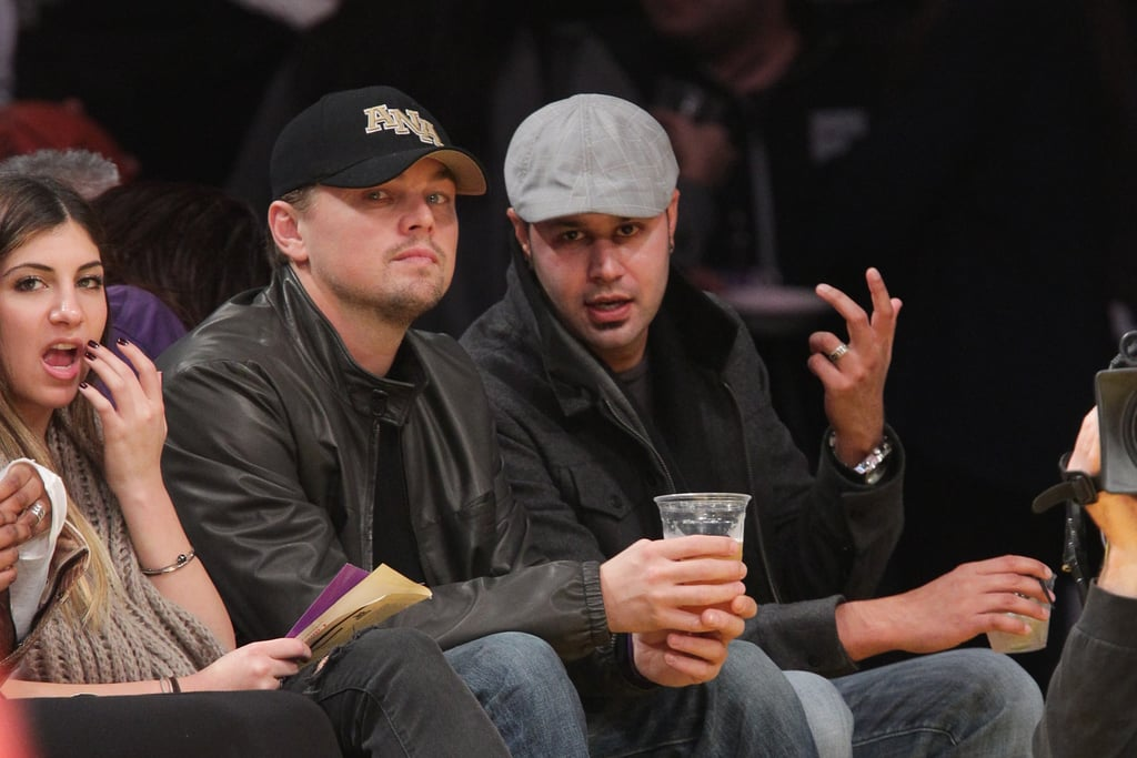 Pictures of Leonardo DiCaprio Courtside at a Lakers Game 2010-12-22 07:28:18