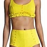 Lisa Marie Fernandez Colby Ruffle Two-Piece Bikini