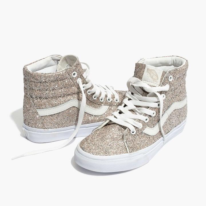 23600cd6fd Madewell Vans SK8-Hi High-Top Glitter Sneakers