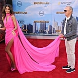 Zendaya and Michael Keaton at Spider-Man Premiere in LA