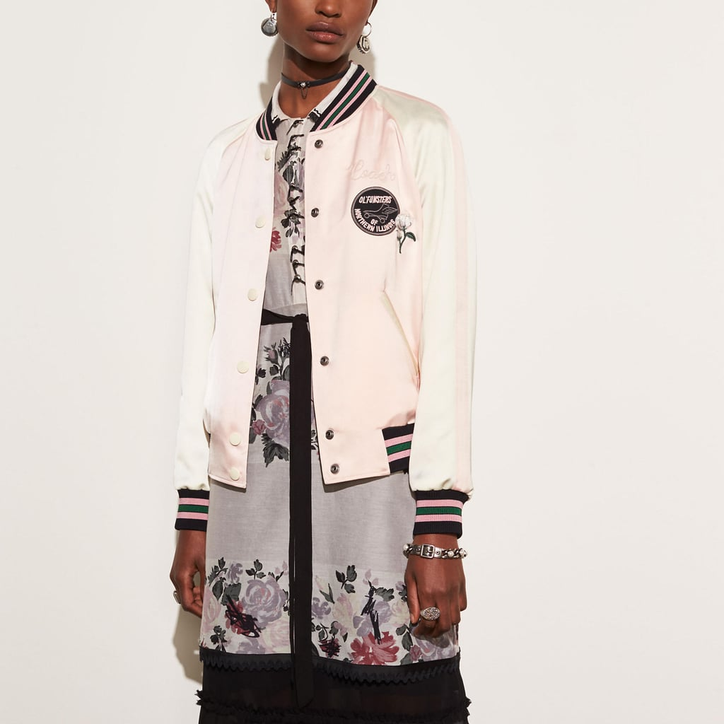 Coach Reversible Satin Jacket in Shell Multi ($595)