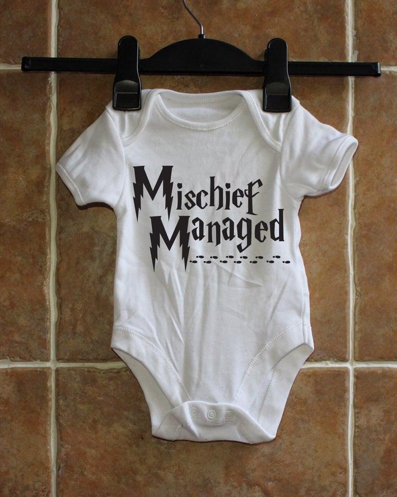 178c35878 Mischief Managed Onesie | Harry Potter Baby Clothes | POPSUGAR ...