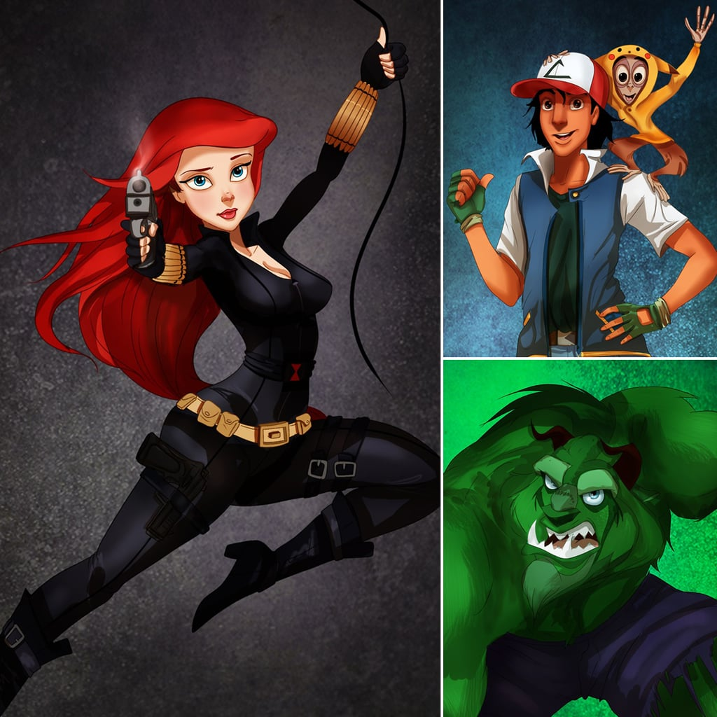 Disney Characters in Halloween Costumes
