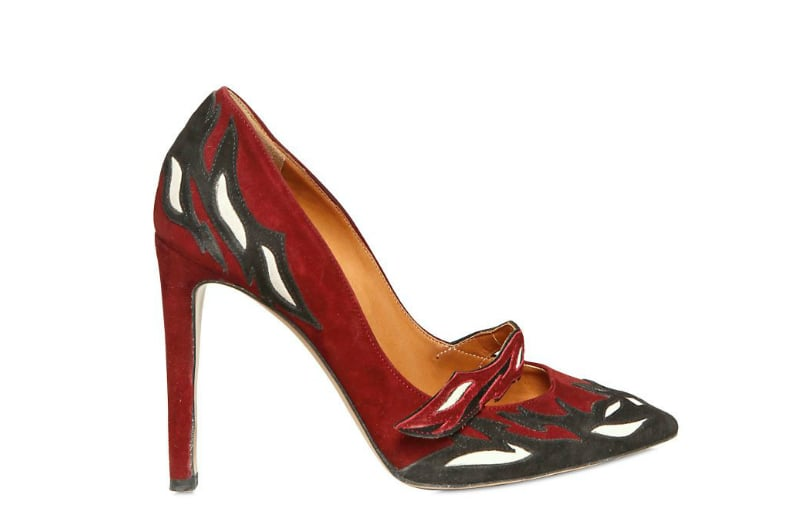 Three words: ultimate statement pump. Isabel Marant Embroidered Suede Pumps ($792)