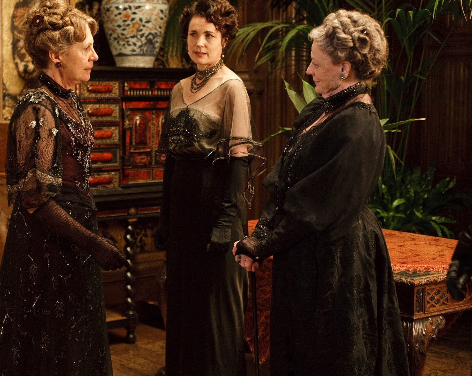 """Mrs. Crawley: """"I'll take that as a compliment.""""  Lady Violet: """"Oh, I must have said it wrong."""" Photo courtesy PBS"""