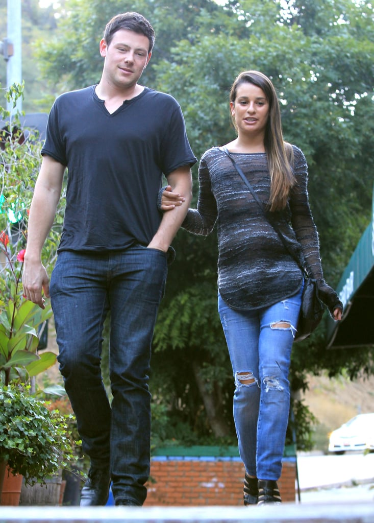 Cory Monteith and Lea Michele went on a lunch date.