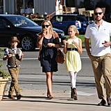 Jim held the car keys while Reese and the kids snacked on their treats.