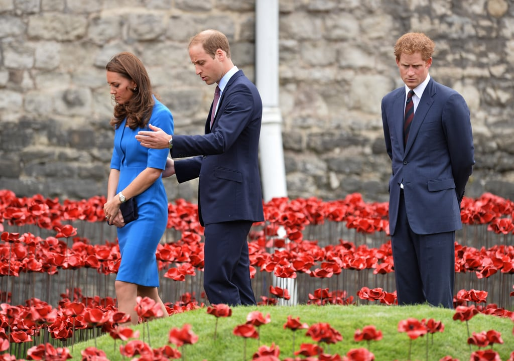 """""""Go see the poppy installation with Will and Kate, they said. It'll be fun, they said."""""""
