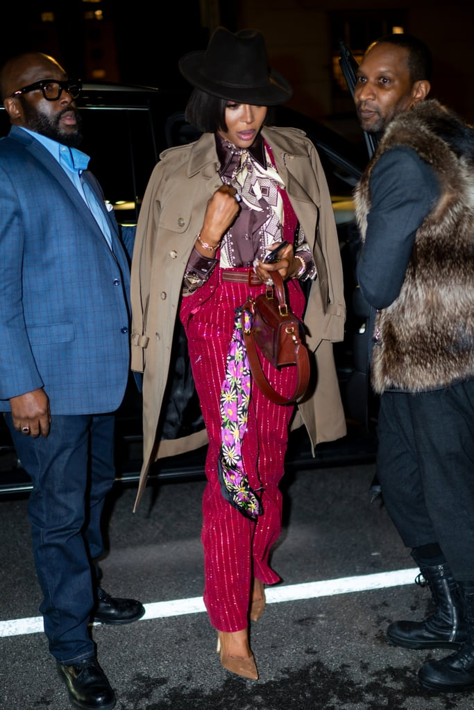 Naomi Campbell's Street Style at New York Fashion Week