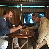 Ritchie is an avid fan of chess, and he enlisted Hunnam for a game.