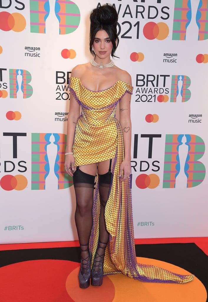 Dua Lipa's Yellow Vivienne Westwood Dress at the BRIT Awards