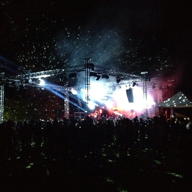 Bands including Francis & the Cats and Goose hit the stage for a packed crowd of fashion fans.
