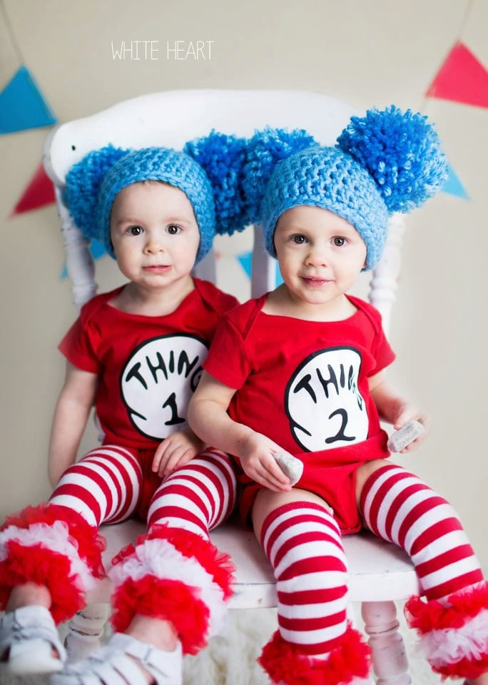 thing 1 and thing 2 costumes kids group halloween costume ideas popsugar moms photo 20 - Thing 1 Thing 2 Halloween Costume