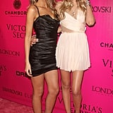 Lily Donaldson and Lily Aldridge hit the pink carpet together.
