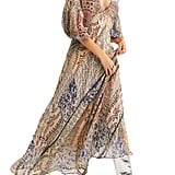 Free People Moroccan Dream Plunge Neck Dress
