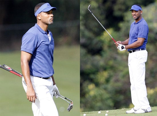 Photos of Will Smith Playing Golf in Hawaii