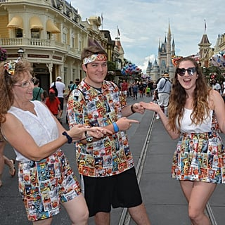 Girl Makes Matching Disney Costumes For Vacation
